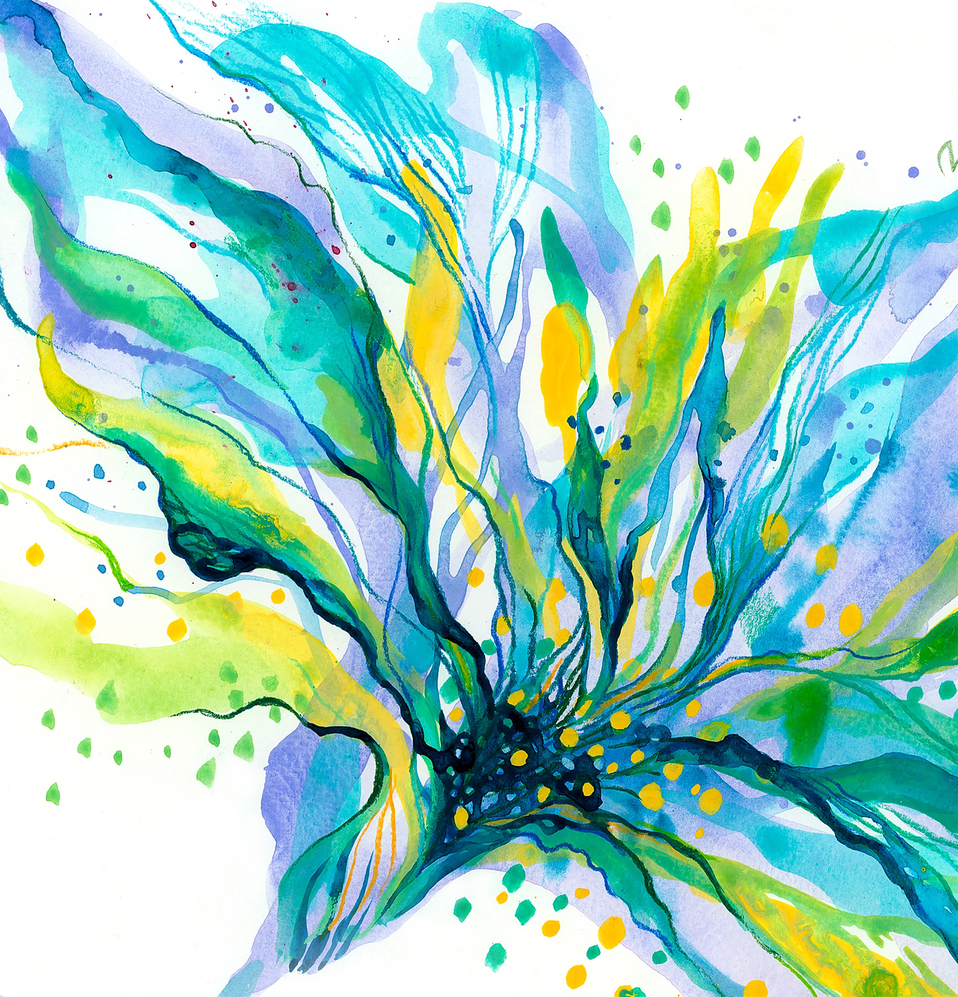 40x40-BlueFlower-ViorikaZagorowska-ArtForSale.s