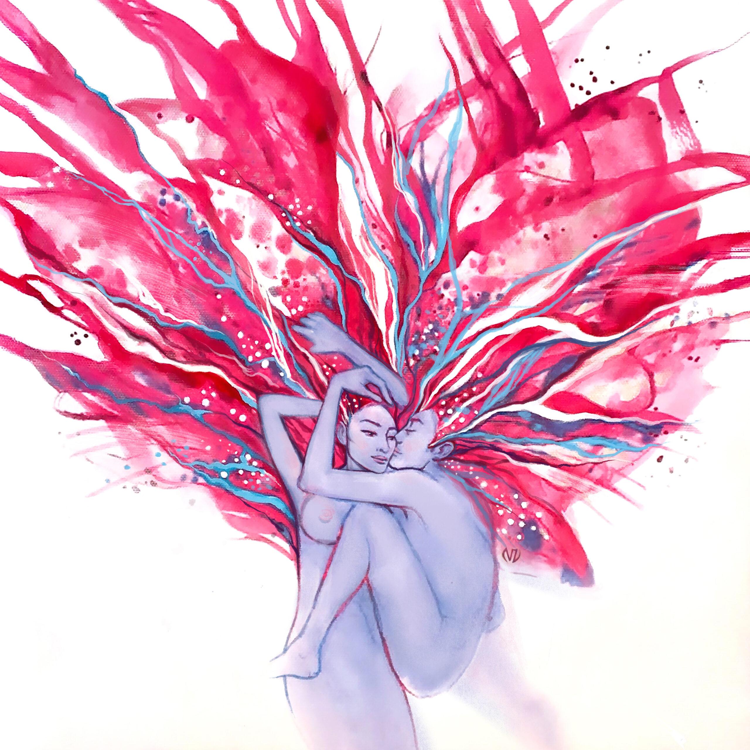 50x50-RuspberryKiss-ViorikaZagorowska-ArtForSale