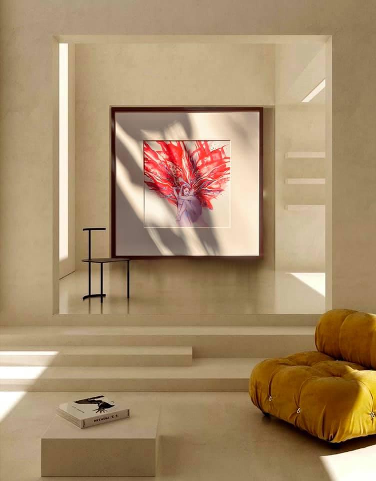 50x50-RuspberryKiss-ViorikaZagorowska-ArtForSale.in